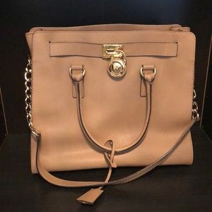 Michael Kors Hamilton Purse with gold accents